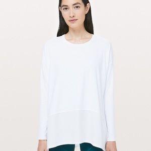Lululemon White Ease of Mind Long Sleeve Shirt